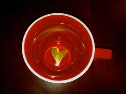 A little love in the bottom of the cup.